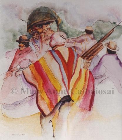 Guatemala Dance, Watercolor, SOLD