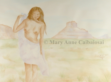 Desert Breezes, Watercolor, Framed *Available*