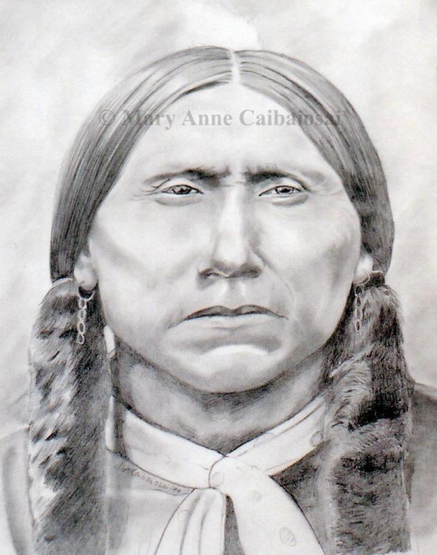 Quanah Parker, Pencil, SOLD