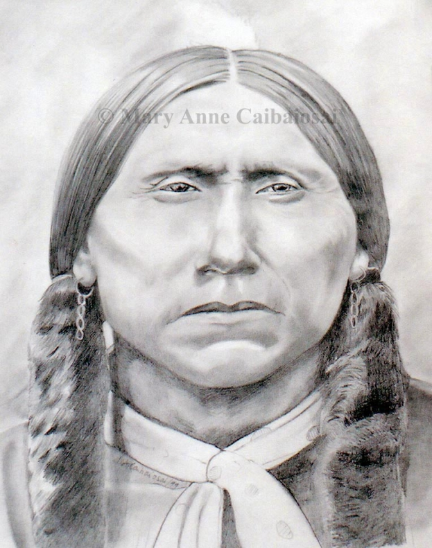 Quanah Parker, Pencil, SOLD