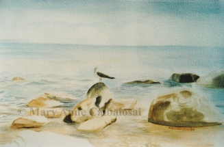 Northern Shoreline, Watercolor, Unframed *Available*