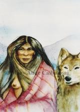 Woman's Best Friend, Watercolor, SOLD