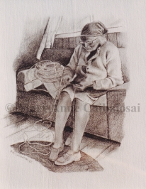 BasketMaker, Pencil, SOLD