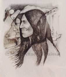At One With the Land, Pencil, SOLD