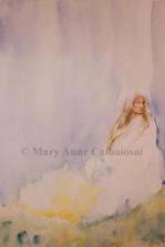 Windwalker, Watercolor, SOLD