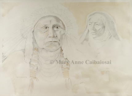Residential School, Pencil, Framed *Available*