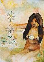 At One with the Earth, Watercolor, Unframed *Available*